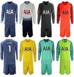 2018 2019 Soccer Jersey Long Sleeve KANE LAMELA ERIKSEN DELE SON jersey 18  19 Football kit shirt men Goalkeeper uniforms set e7f117a67