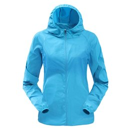 3ae2eceb1b3 Vertvie 2018 Women Men Sunproof Rain Jacket Windproof Outdoor Thin Sports Jacket  Quick Dry Running Solid Hooded Cardigan