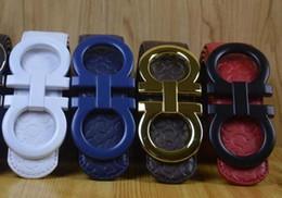 Large bLue box online shopping - Big large buckle genuine leather belt with box designer belts men women high quality new mens belts luxury belt