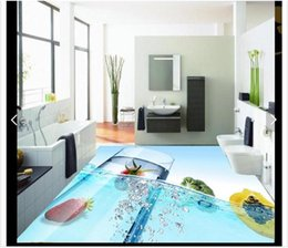 Textile Waterproofing Australia - 3D wallpaper floor painting Self-adhesive Waterproof Flooring Wall Sticker Customized Exquisite fruit 3D bathroom floor decoration
