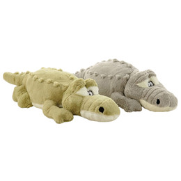 China 1pc 55cm 80cm New Arrival Stuffed animals Big Size Simulation Crocodile Plush Toy Cushion Pillow Toys For Girlfriend Children cheap stuffed animals bear suppliers