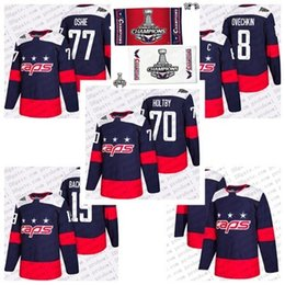 cec2ec1fc 2018 Stanley Cup Final Champion Stadium Series Washington Capitals Alex  Ovechkin 70 Braden Holtby 77 T.J. Oshie 19 Backstrom Hockey Jersey