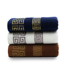 Luxury beach toweLs online shopping - 100 Cotton Embroidered Towel Sets Bamboo Beach Bath Towels for Adults Luxury Brand High Quality Soft Face Towels Drop Shipping