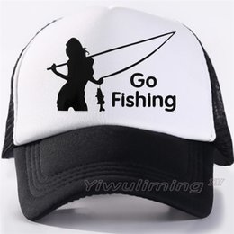 adult fish hats Canada - Men Women New Summer Trucker Caps fishing Cool Summer Black Adult Cool Baseball Mesh Net Trucker Caps Hat for Men Adultbeyonce