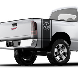 $enCountryForm.capitalKeyWord Australia - For Freemason illuminati sticker bed band for pickup truck Logo GMC Chevy 016