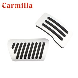 mitsubishi pedals UK - Carmilla Car Gas Pedal Brake Pedals Covers for Mitsubishi Lancer Outlander ASX Pajero Eclipse Grandis FORTIS Zinger AT Parts