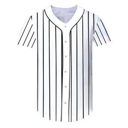 Hip Hop T Shirt Men Baseball Jersey Tshirt Streetwear Striped 3D Print  Harajuku T-Shirts Tee Tops Clothing c950b1e6d