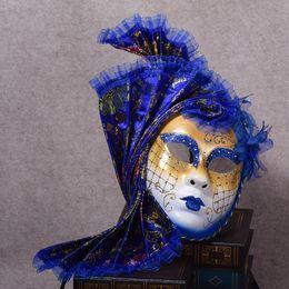 $enCountryForm.capitalKeyWord Australia - Halloween mask masquerade Venice, antique painting flowers full face party show female mask