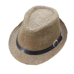 $enCountryForm.capitalKeyWord UK - Children's Baby Hat Summer Trilby Gangster Cap Lattice Pattern baby accessories Beach Sun Straw Hat Band Sunhat casquette enfant