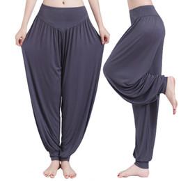 7aaf5f4d8d0 Plus Size Wide Leg Yoga Pants Women Fitness Sport Pants High Waist Stretch  Sports Trousers Full Length Bloomers Sport Clothing