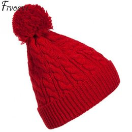 887e52230f9 Woman Winter Hat Beanie Cc Faux Fur Pom Pom Ball For Hats Knitted Cap  Skully Warm Ski Hat Trendy Soft Brand Thick Female Caps