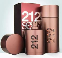 212 Sexy Mens Perfume Saúde Beleza Fragrância Desodorante Fragrância Fruity de longa duração Eau de Parfum Toilette Spray de Incenso 100 ml Novo na Caixa