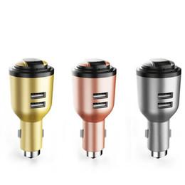 IVLWE 3 em 1 Dual USB Inteligente Carregador de Carro Sem Fio Bluetooth 4.1 fone de Ouvido fone de Ouvido de Emergência Martelo Seguro Microfone Embutido para o telefone móvel tablet G