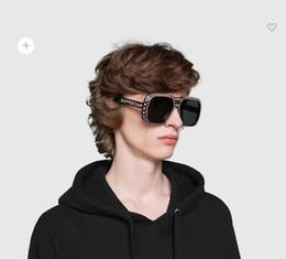3be4bafa44 Top Quality 0247 brand Women designer fashion Luxury men big Square Frame  with stone sunglasses UV Protection with original box 0247S