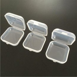 Box Case Fish NZ - Plastic Earplugs Box Fishing Bait Box Clear Transparent Jwelry Cosmetic Boxes Medicine Pill Box Small Square Tablet Case Sundry Storage Hold