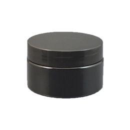 $enCountryForm.capitalKeyWord UK - 50pcs 100g 100ml 3.5oz Black Plastic jar pot lid PET jar round plastic containers for cosmetics empty cream balm refillable jars