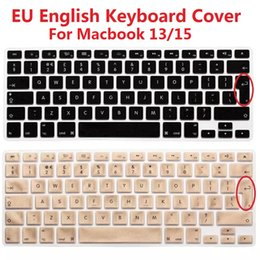Imac Macbook Australia - Solque Silicone EU Euro Version English Keyboard Cover For Macbook Air Pro Retina 13 15 Laptop Keyboard Skin Protector For iMac