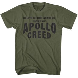 eaa9b996c Creed T-Shirt Delphi Boxing Academy Military Green Tee T Shirt For Men Rock  Custom Short Sleeve Big Size Team Camiseta