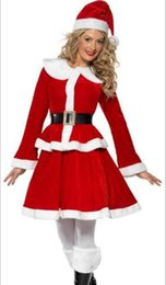 Santa Women Costume NZ - Sexy Women Christmas costumes Santa Claus For Adults Cosplays for Christmas Party Costume