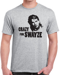 crazy cottons Australia - Fashion Crazy For Swayze Mens T Shirt Funny 80s Movie Actor Humor Vintage Patrick Men Funny O Neck Short Sleeve Cotton T Shirt