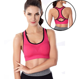 Sweat Absorbing Spandex Canada - Absorb Sweat Quick Drying Women Sports Bra Vest Type Fitness Gym Exercise Running Sport Bra Top Plus Size Yoga Bra 6 Colors