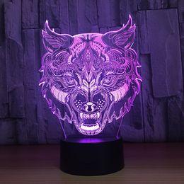 $enCountryForm.capitalKeyWord Canada - Murderous wolf 3D LED Optical Illusion Lamp Night Light DC 5V USB Charging 5th Battery Wholesale Dropshipp Free Shipping