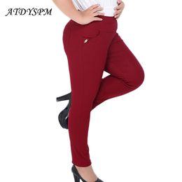 $enCountryForm.capitalKeyWord NZ - ATDYSPM Brand Fashion Women Plus Size 5XL 6XL Pencil Pants High Waist Elastic Cotton Pants Slim Casual Pants Trousers Leggings S18101605
