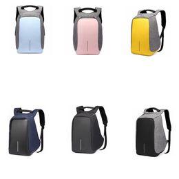 Travel lapTop charger online shopping - USB Oxford Backpack Student Double Shoulder Bag Computer Bag With USB Charger Laptop outdoor Travel Guard against theft Backpack GGA580