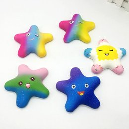 Yiwu star online shopping - Squishy star squishies Slow Rising Soft Squeeze Cute Cell Phone Strap gift Stress children toys Decompression Toy