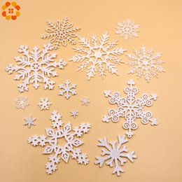 Discount white plastic snowflakes - 1 Pack White Plastic Fake Snowflake For Home Christmas Party DIY Scene New Year Xmas Tree Pendants Ornaments Window Deco
