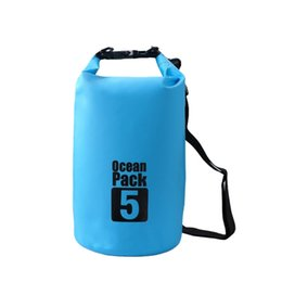 f184bbda2c71 2L 3L 5L Camping PVC Waterproof Bags Outdoor Dry Bag Water Resistant  Swimming Storage Bag Upstream Pouch for Cano Kayak Rafting