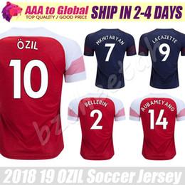 0e309eace7b Manchester United Jersey Canada - Alexandre Lacazette Jersey 2019 Home FC  ARS Ozil Ramsey Mkhitaryan Xhaka
