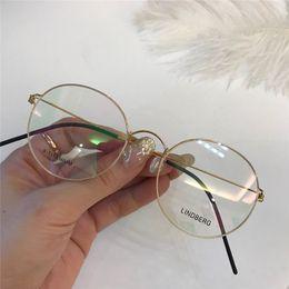 058f8e2fd60 2018 LINDBERG Top quality Retro hand-made M1007 eyeglasses innovative  screwless eyewear brand ultralight myopia glasses men glasses