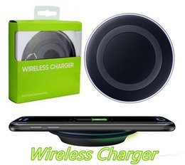 Charger Samsung Quality Australia - High Quality Universal Qi Wireless Charger Charging For Samsung Galaxy s7 Edge s8 plus note8 iphone 8 X mobile pad with package MQ30