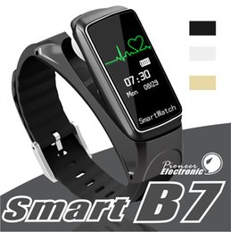 Pedometer heart bluetooth online shopping - B7 Smart Bracelet Bluetooth Sports Smart Watch Intelligent Detachable Music Heart Rate Monitor Pedometer wristwatch for Android
