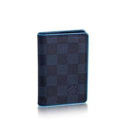 15a51ec3b225 N63247 Damier Cobalt Canvas Wallet Short Men Fashion OXIDIZED LEATHER  CLUTCHES EVENING LONG CHAIN WALLETS COMPACT PURSE