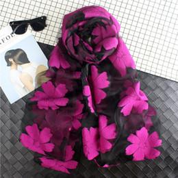 Lenço das mulheres Primavera Verão Peso Leve Sheer Silk Shawl Protetor Solar Organza lenço de Verão Wraps V35