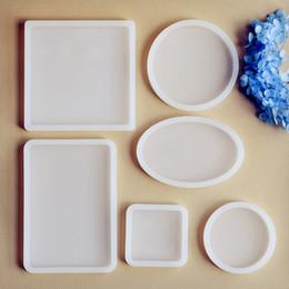 Квадратный круглый овальный прямоугольник скрапбукинга силиконовые формы для ювелирных изделий смолы силиконовые формы ручной работы DIY эпоксидной смолы литья формы на Распродаже