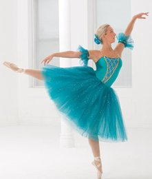 Wholesale professional classical ballet tutu for sale - Group buy New Classical Ballet Tutu Leotard Kids Sky Blue Girls Professional Ballet Costumes Children Stage Show Dress For Children