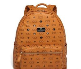 $enCountryForm.capitalKeyWord Australia - Hot Sales Vintage Women Backpack PU Leather School Bag For Teenagers Punk Rivet Female Travel Bags High Quality
