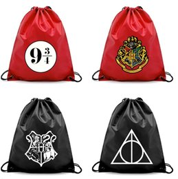 harry potter bags 2019 - potter Drawstring bag Travel Package Storage Organizer Drawstring Bag Cartoon Harry Pouch harry shopping bag kid bookbag