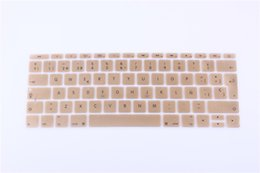 Macbook Retina 13 Inches UK - 12 inch Silicone Spanish Waterproof Keyboard Cover For New Macbook 12 Retina  New Pro 13 with Retina A1708 keyboard Film Sticker