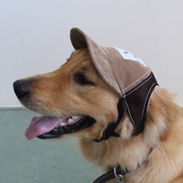 b0a003d8703 pet caps hats 2019 - Pet Baseball Cap Net Cloth Ventilation Sunscreen  Fitted Dog Supplies Outdoor