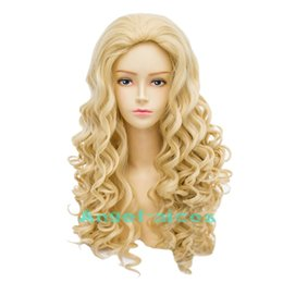 Fashion Women Blonde Wavy Victoria Style Party Cosplay Costume Wig Halloween Hot
