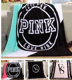 Best Chrismas Gifts Australia - New design Rectangle stripe Pink VS Secret Flannel Blanket Adjust To Adult Child use Sofa travel Blanket best chrismas gift.