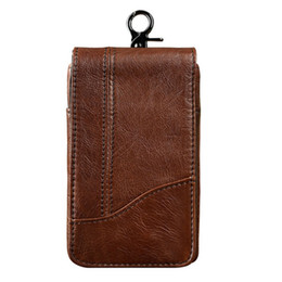 $enCountryForm.capitalKeyWord UK - New Men Genuine Leather Mobile Phone Case Pocket Purse Cigarette Hip Belt Bum Fanny Waist Bag Multi-purpose Pouch Pack Wallet