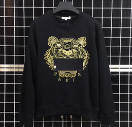 765fc0b996 Sweatshirts Designer Long Sleeve T Shirts For Men Tiger Embroidery Hoodeis  Brand lLetter Top Women Autumn Spring Size S-2XL