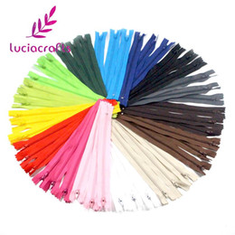 $enCountryForm.capitalKeyWord Canada - Lucia crafts 20cm Length Colorful Nylon Coil Zippers Tailor Garment Sewing Handcraft DIY Accessories 6pcs 15pcs 089055