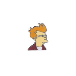 China Cartoon Comics Futurama Philip J. Fry Brooch Enamel Pin for Denim Jackets Bag Accessories Pins Badge Jewelry Lapel Pin cheap jacket j suppliers