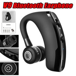Universal ear blUetooth wireless handsfree headset online shopping - V9 Wireless Voice Control Music Sport Bluetooth Headset Handsfree Headphones Bluetooth Headset Noise Canceling Earphones with retail pakcage